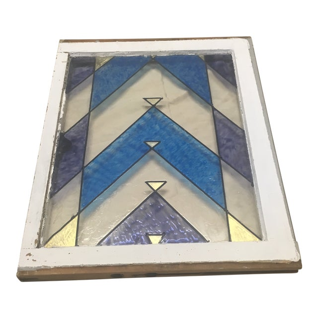 1890s Antique Arts and Crafts Stained Glass Window Architectural Salvage For Sale