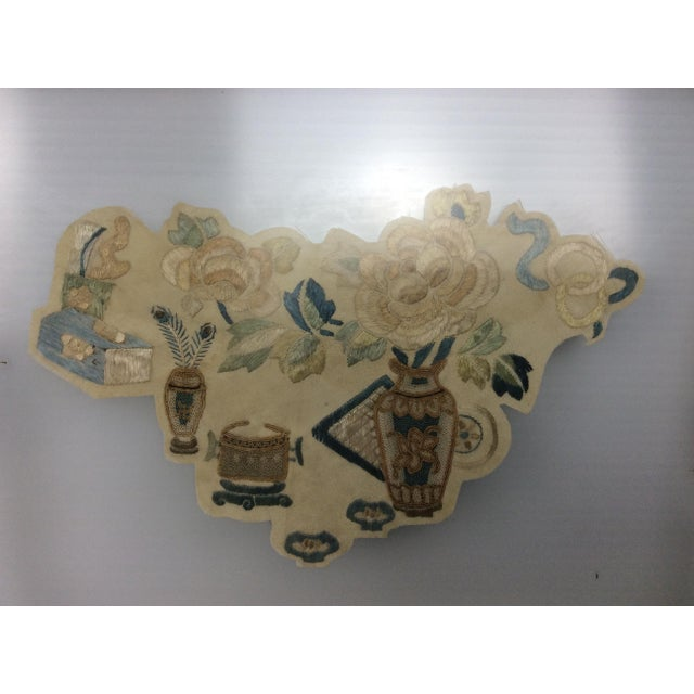 Asian 19th Century Chinese Framed Embroidery - A Pair For Sale - Image 3 of 11