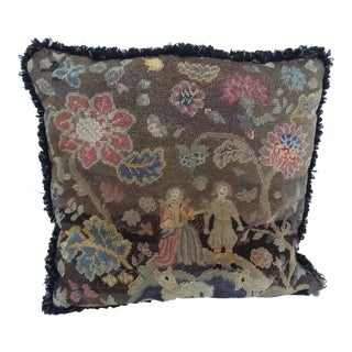 Charles II Style Needlework Pillow For Sale