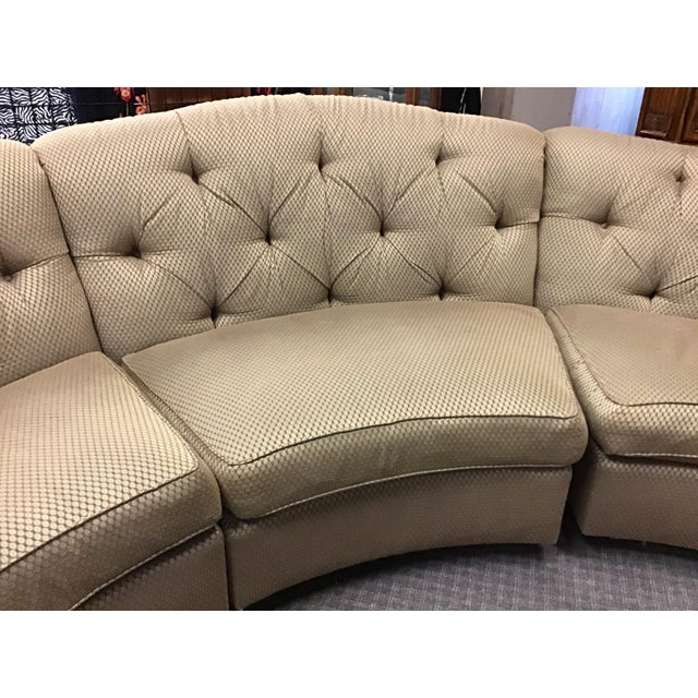 Contemporary Vincente Wolf Modern Crescent Sectional Sofa 3 Pcs For Sale - Image 3 of 11