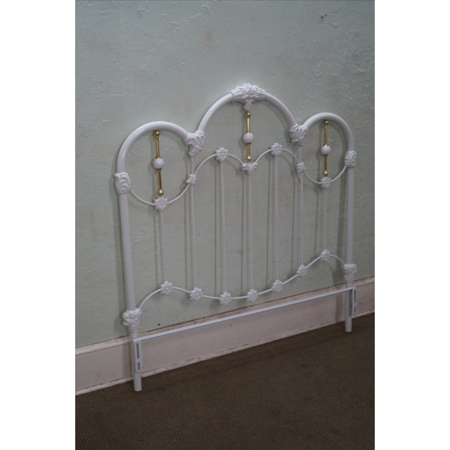 Painted Iron Brass Victorian Full Size Headboard - Image 2 of 10