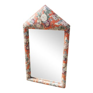 Scalamandre Upholstered Mirror For Sale