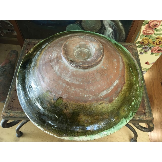 French Antique Pottery Glazed Bowl, South of France For Sale - Image 12 of 13
