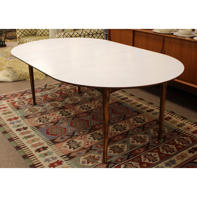 Craft & Associates Mid Century Modern Lawrence Peabody Craft Assoc.Dining Table & 6 Side Chairs - Set of 7 For Sale - Image 4 of 13