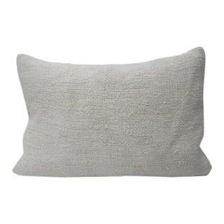 Vintage White Hemp Kilim Pillow For Sale