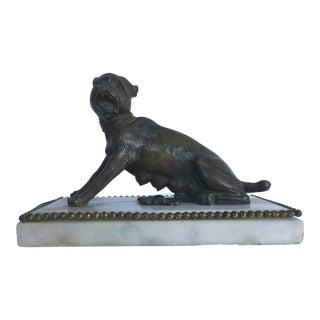 Bronze Animal on Stone Base