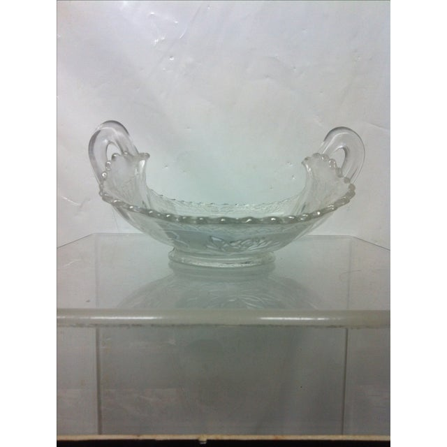 Pond Lily Iridescent Carnival Glass Card Receiver For Sale In Dallas - Image 6 of 8