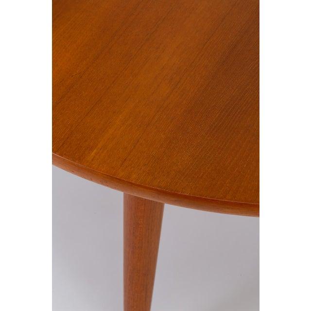Hans Wegner Three-Legged Teak Coffee Table for Andreas Tuck For Sale - Image 9 of 12