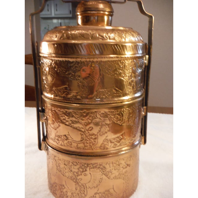 "Vintage Copper Clad ""Tiffin"" or ""Dabba"" - Image 3 of 9"