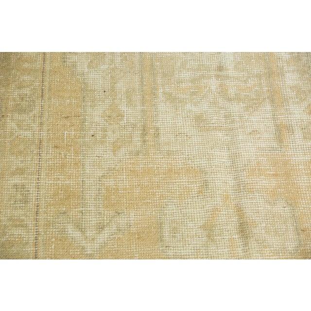 "Vintage Distressed Oushak Carpet - 5'6"" X 9'1"" For Sale - Image 10 of 13"