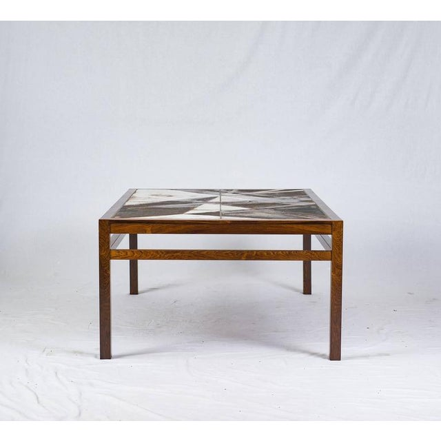 Danish Rosewood Abstract Tile Coffee Table - Image 5 of 10
