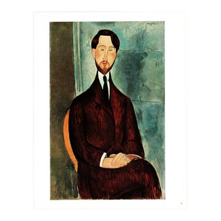 1940s A. Modigliani Leopold Zborowsky Swiss Lithograph For Sale