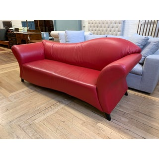 Vintage Custom Red Leather Chaise Preview
