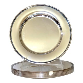 Danish Silver Plate Chargers, Set of 8 For Sale