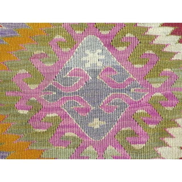 Purple Vintage Turkish Kilim Rug - 5′4″ × 10′10″ For Sale - Image 8 of 10