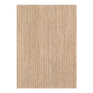 "Erin Gates by Momeni Westshore Waltham Brown Natural Jute Area Rug - 3'6"" X 5'6"" For Sale"