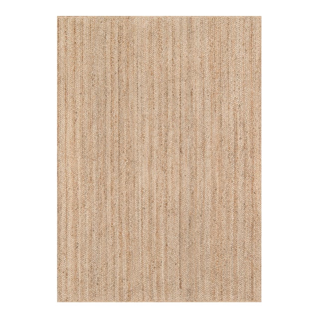 """Erin Gates by Momeni Westshore Waltham Brown Natural Jute Area Rug - 3'6"""" X 5'6"""" For Sale"""