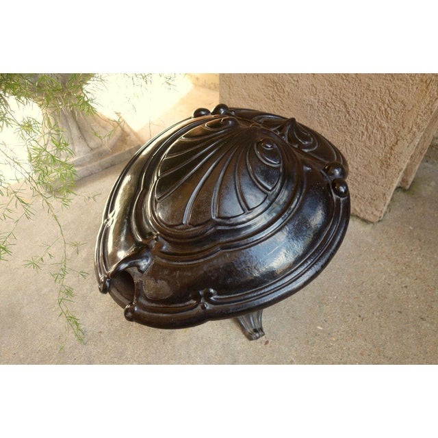 Antique French Victorian Cast Iron Fireplace Coal Hod For Sale - Image 4 of 11