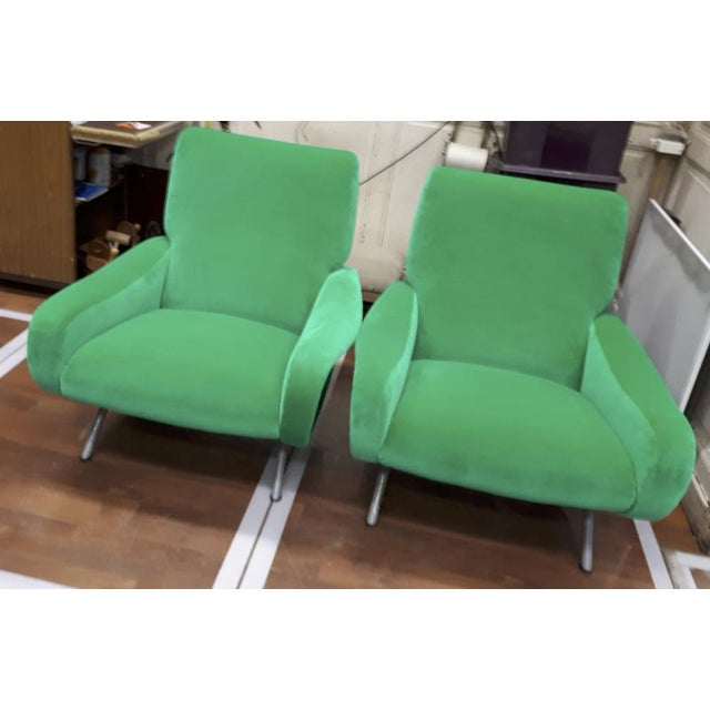 "1950s Marco Zanuso Pair of Model ""Lady"" Arm Chair For Sale - Image 5 of 8"