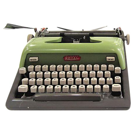 Mid Century Green Royal Typewriter - Image 1 of 7