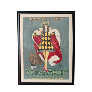 "Veuve Amoit ""Crémant du Roi"" Color Lithographic Poster by Leonetto Cappiello"