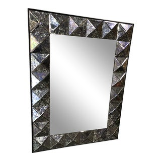 Vintage Purple Faceted Frame Oversize Mirror For Sale