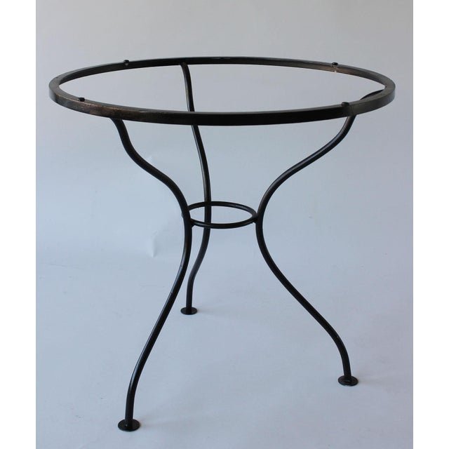 1950s Mid-Century Iron Tripod Table For Sale - Image 5 of 8