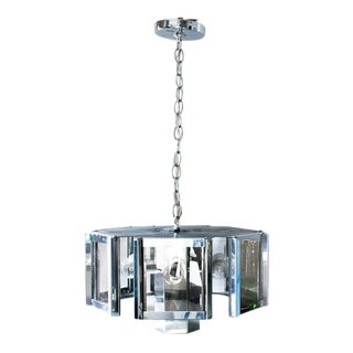 Smoke Glass and Chrome Fredrick Ramond Chandelier