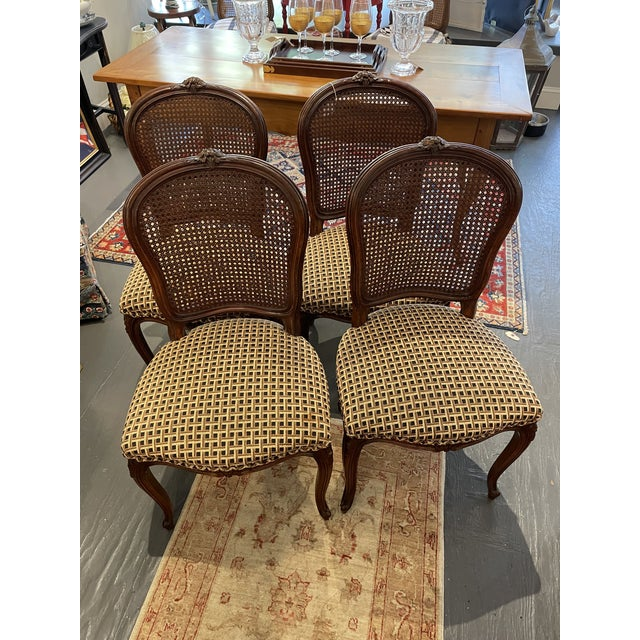 1920's French Country Walnut Dining Chairs - Set of 4 For Sale - Image 9 of 9