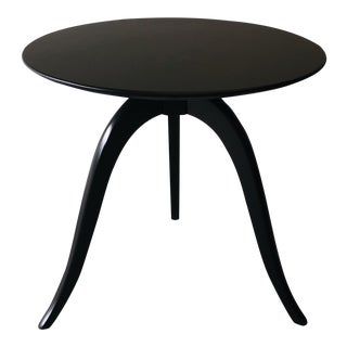 Black Wishbone Side Table