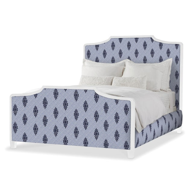 Transitional Madeline Bed in Boca Wedgewood - King For Sale - Image 3 of 3