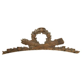 Antique French Carved Pediment For Sale