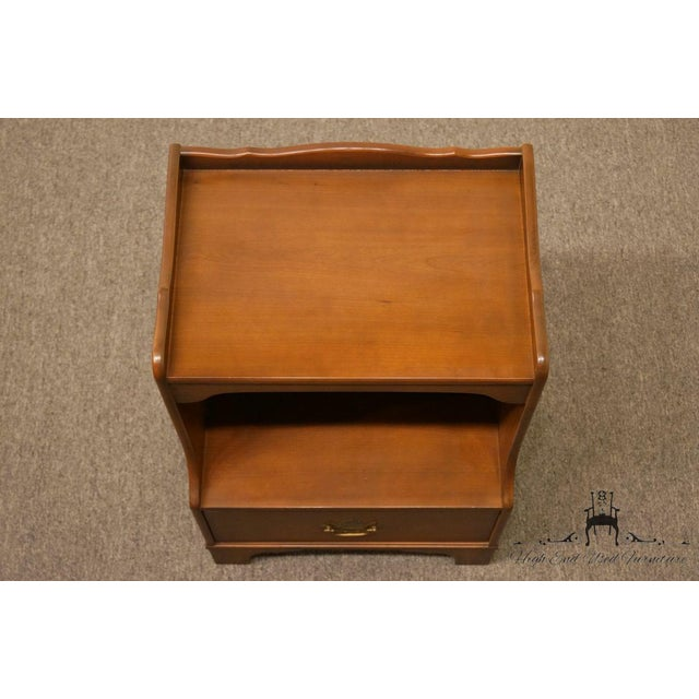 "Late 20th Century Kindel Grand Rapids Solid Cherry 20"" Nightstand For Sale - Image 5 of 13"
