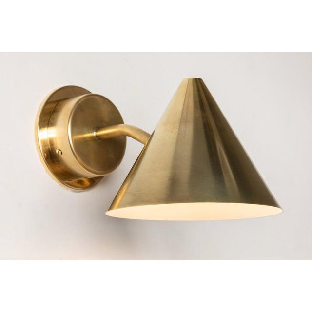 Mid-Century Modern Hans-Agne Jakobsson 'Mini-Tratten' Polished Brass Outdoor Sconces - a Pair For Sale - Image 3 of 13