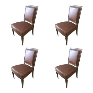 Set of 4 Neo-Classic Mahogany Chairs For Sale