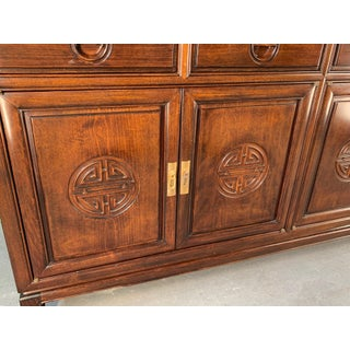 Japanese Redwood Chinoiserie China Cabinet Preview