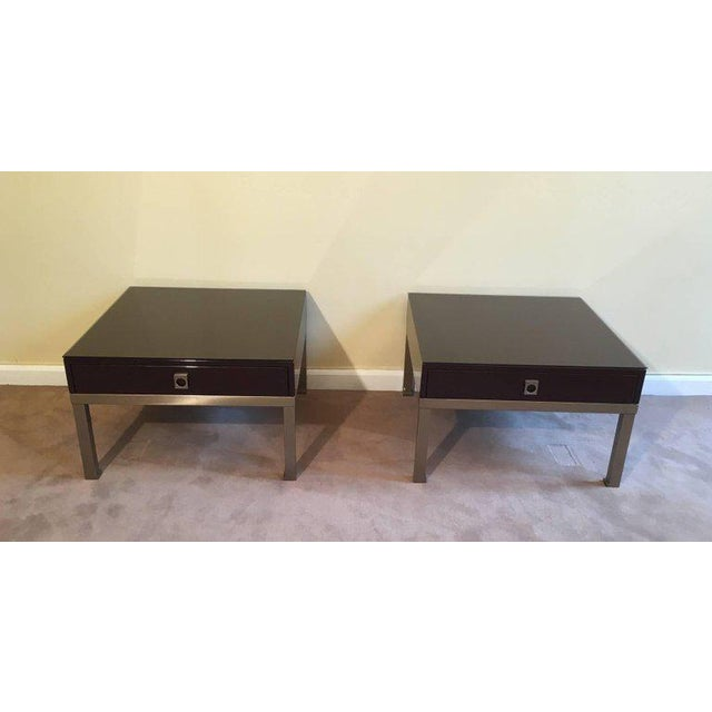 1970s French Pair of Side Tables by Guy Lefèvre for Maison Jansen - Image 2 of 11