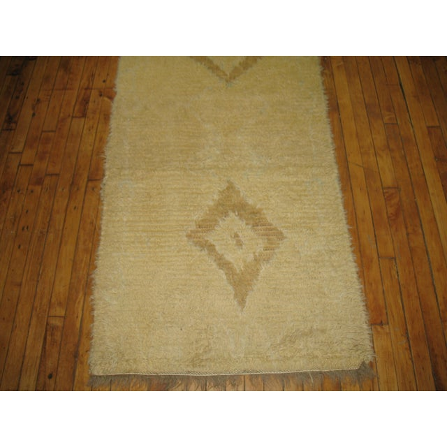 Boho Chic Vintage Shag Moroccan Runner - 2'10'' X 9'8'' For Sale - Image 3 of 3
