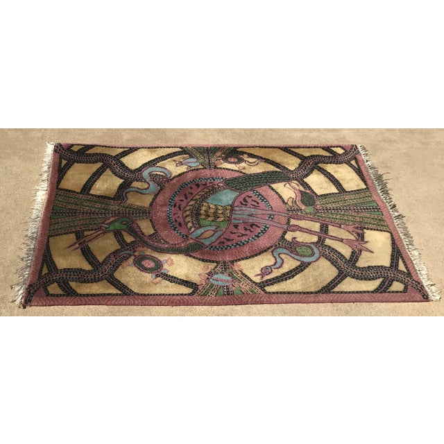 Vintage Hand Knotted Persian Animal Rug- 3′ × 4′6″ For Sale - Image 10 of 10