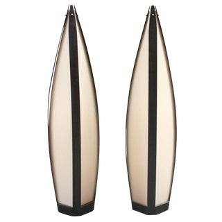 Elongated Tear Drop Lantern Table Lamps - a Pair For Sale