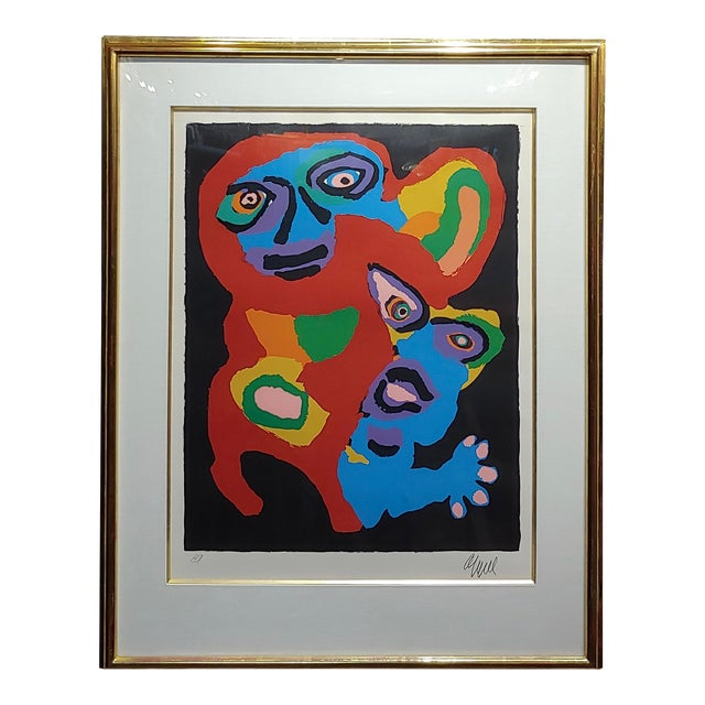 Karel Appel -Chien De Face -Original Artist Proof -Signed For Sale