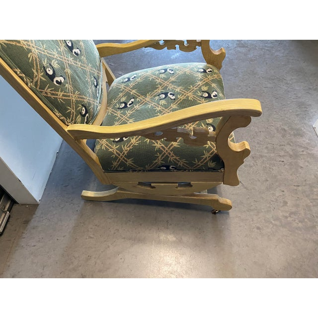 Green 19th Century Refinished Rocking Chair For Sale - Image 8 of 10
