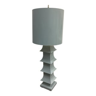 Powder Blue Table Lamp For Sale