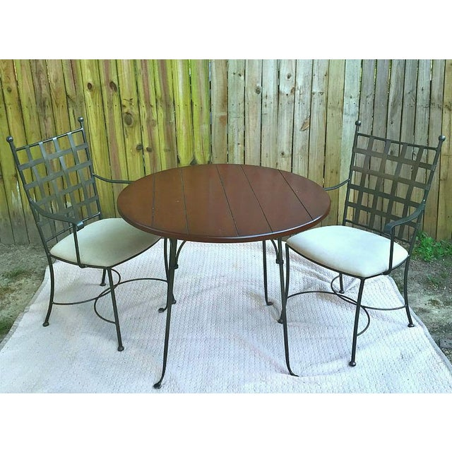 Spanish Charleston Forge Etrusche Dining Set - 3 Pieces For Sale - Image 12 of 12