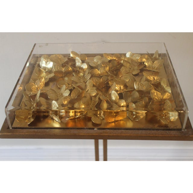 Modern Modern Tommy Mitchell Lucite Butterfly Tray Table For Sale - Image 3 of 9