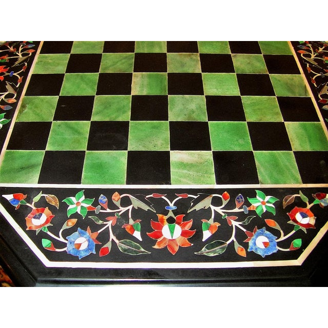 Pietra Dura Chess Board Marble Table For Sale In Dallas - Image 6 of 9