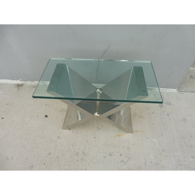2000s Contemporary J. Robert Scott High End Custom Made Exxus Table For Sale - Image 5 of 10