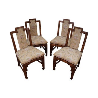 Asian Style James Mont Era Dining Chairs - S/4 For Sale