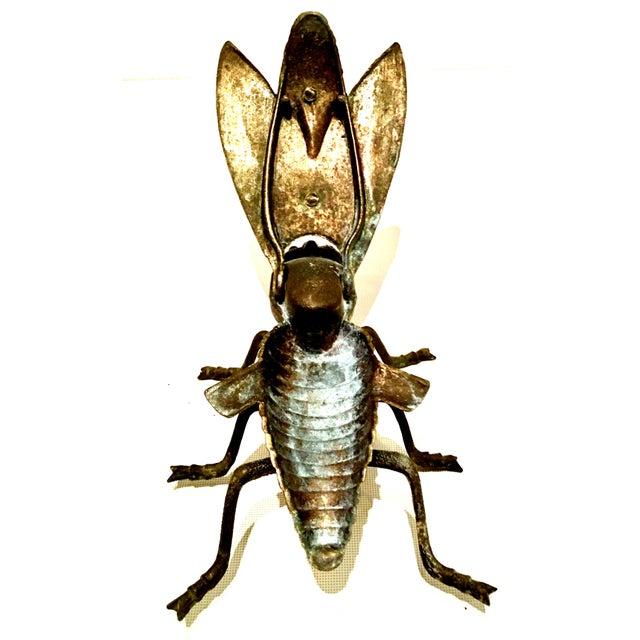 Metal Mid-20th Century Art Nouveau Iron & Brass Figural Fly & Shrimp Sculpture-a Pair For Sale - Image 7 of 13
