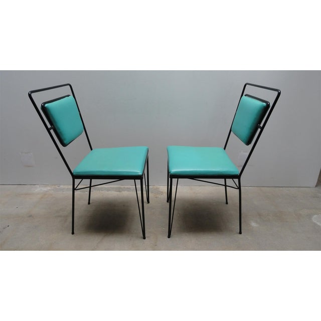 Atomic Age Mid-Century Iron Dining Set - Image 9 of 11